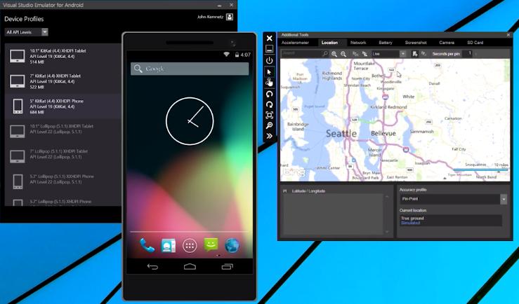 visual studio emulator for android 1 download t l charge virtualisation. Black Bedroom Furniture Sets. Home Design Ideas