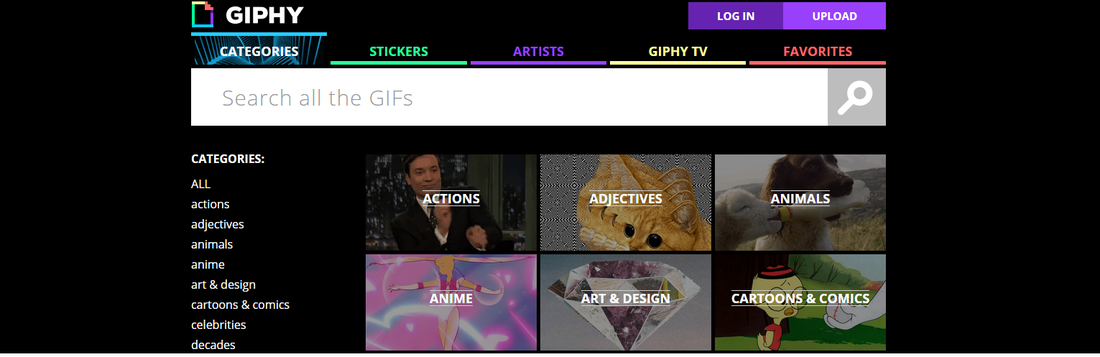Giphy site internet pour gifs plateforme